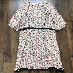 ASOS Curve Floral Boho Peasant Dress
